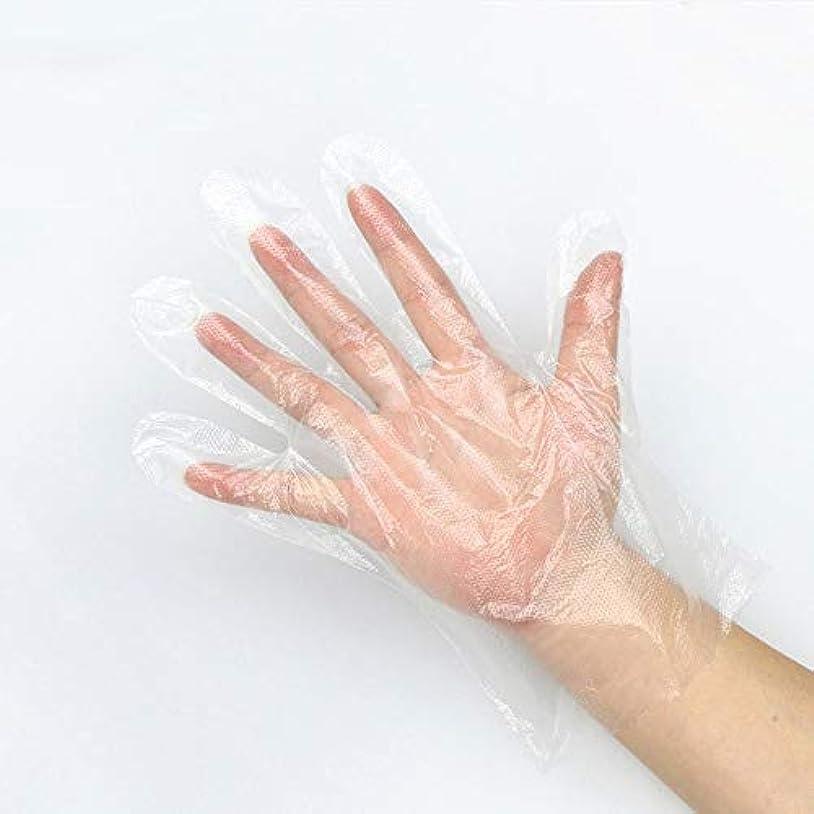 毒性ポテトデモンストレーション使い捨てのPEフィルム透明手袋1000のみ - 食品加工美容室キッチン調理健康診断用 YANW (色 : A, サイズ さいず : 0.9G)