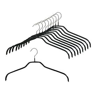 マワ すべり落ちない MAWAハンガー シャツ ブラウス用 レディース Mサイズ 10本組 ブラック MA3210-10a