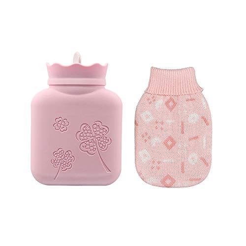 湯たんぽ Lihynmy あったか 素早く温める 電子レンジ加温OK くり返し使用OK エコ 便利 過熱防止 保護カバー付き ピンク