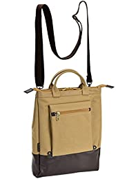 日本製 3WAY 帆布 バッグ[豊岡製 かばん ] ショルダーバッグ 手提げ リュック メンズ レディース 国産 (ベージュ)