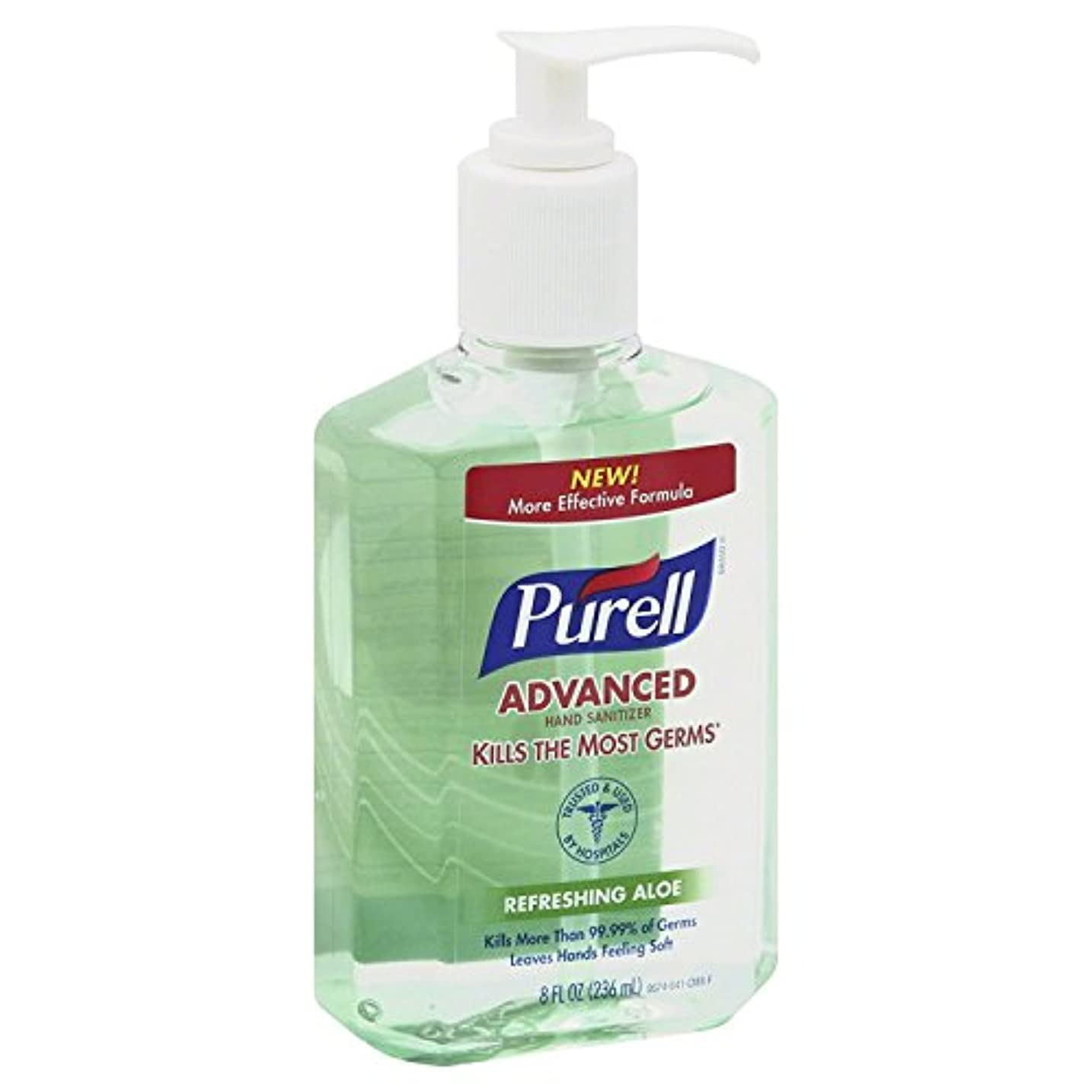 多年生結果博覧会Purell アロエ8オンスを持つ手の消毒(10パック) 10のパック