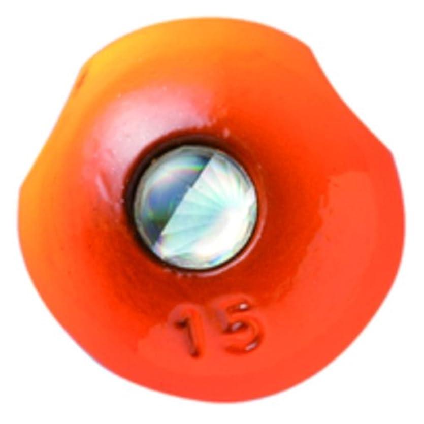 ホイットニー影のあるすぐにハヤブサ(Hayabusa) タイラバ 無双真鯛フリースライド 真鯛専用テンヤ玉 潮斬鯛玉 15号 P560 オレンジ #14 1個