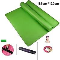 QYM プロのヨガ毛布滑り止めエクササイズマットフィットネスマット (Color : Green c)