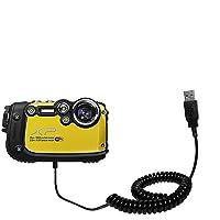 一意Gomadicコイル状USB充電とデータ同期ケーブルと互換性Fujifilm FinePix xp200–Oneケーブル充電とHotsyncが機能。Built with TipExchange