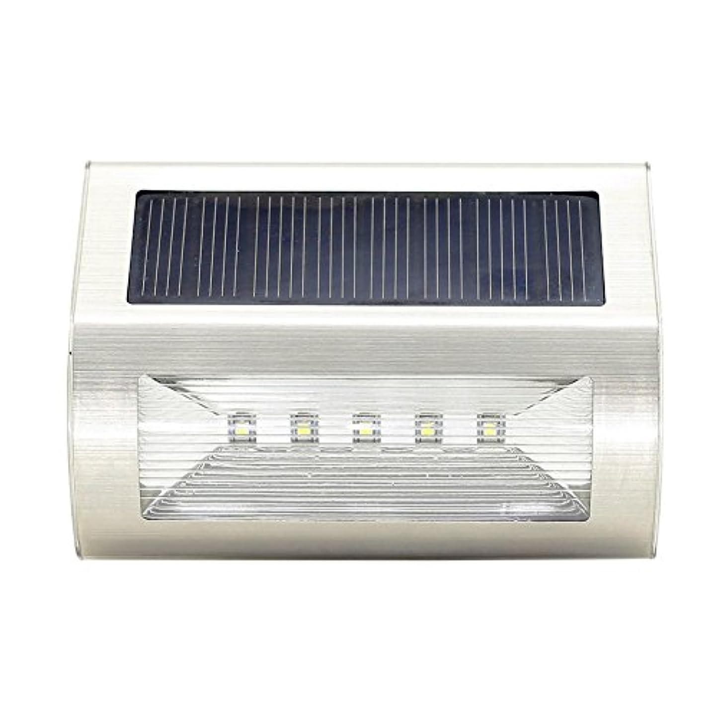 満員凍った敬礼ソーラーライト新しい5LEDステンレス鋼ソーラーウォールライト屋外防雨ソーラー階段ライトガーデンフットライト sundengy