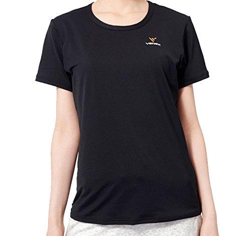 VENEX ( ベネクス ) リカバリーウェア リフレッシュTシャツ レディース ブラック M インナー Tシャツ 半袖 パジャマ