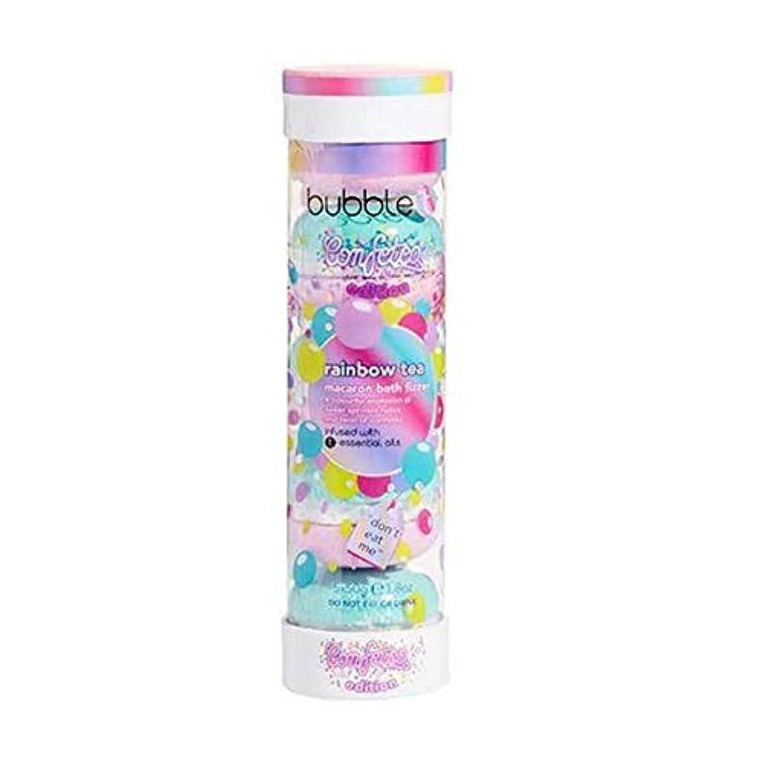 シャープ裁定耐えられる[Bubble T ] バブルトン化粧品のマカロンバスFizzer虹茶5×50グラム - Bubble T Cosmetics Macaron Bath Fizzer Rainbow Tea 5 x 50g [並行輸入品]