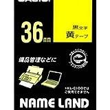 カシオ計算機 ネームランド テープカートリッジ 黄ニ黒文字36ミリ幅 XR-36YW/51568863