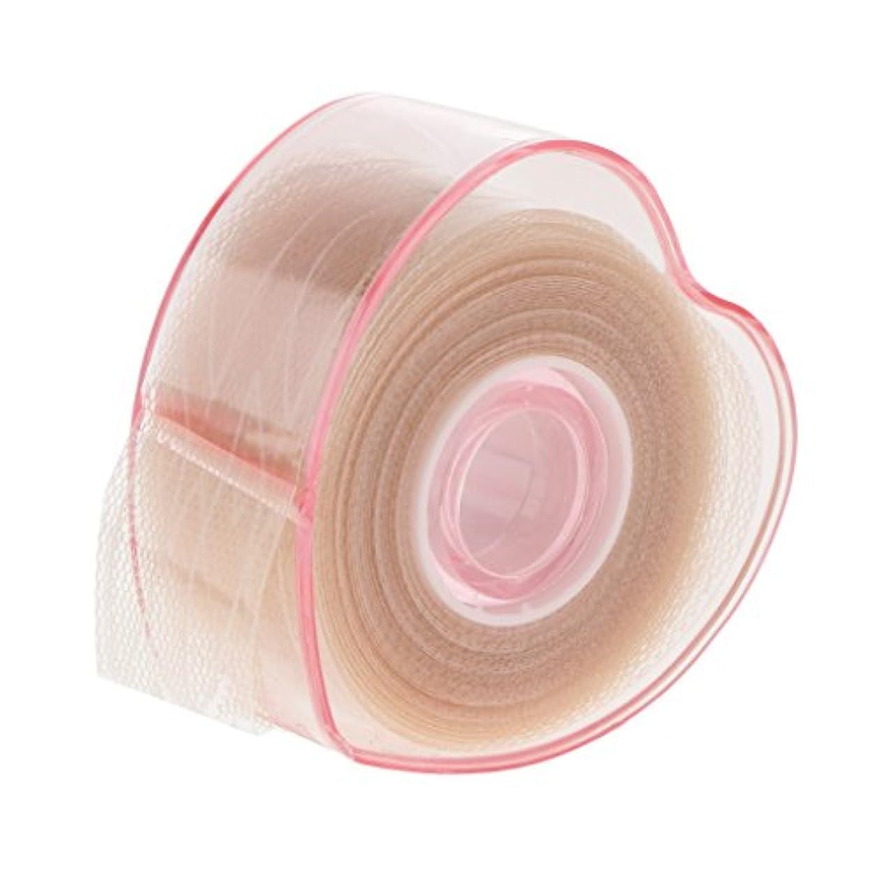 マットマット政治家の二重まぶたロール 二重まぶた テープロール 繊維 レース メッシュ 粘着性なし メイクアップ アイメイク 自然 4タイプ選べる - 図示のように, 説明したように