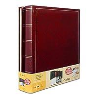 2枚のジャンボの伝統的な写真アルバムのセット500枚の写真のための100ページ10 x 15 cm赤