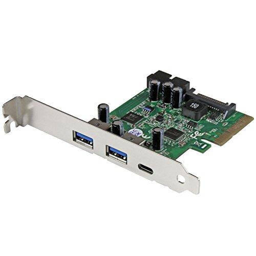 StarTech.com 5ポート USB 3.1(10Gbps) 増設PCIe拡張カード 1x USB-C/2x USB-A/2x 内部ポート(5Gbps ピンヘッダ) PEXUSB312EIC