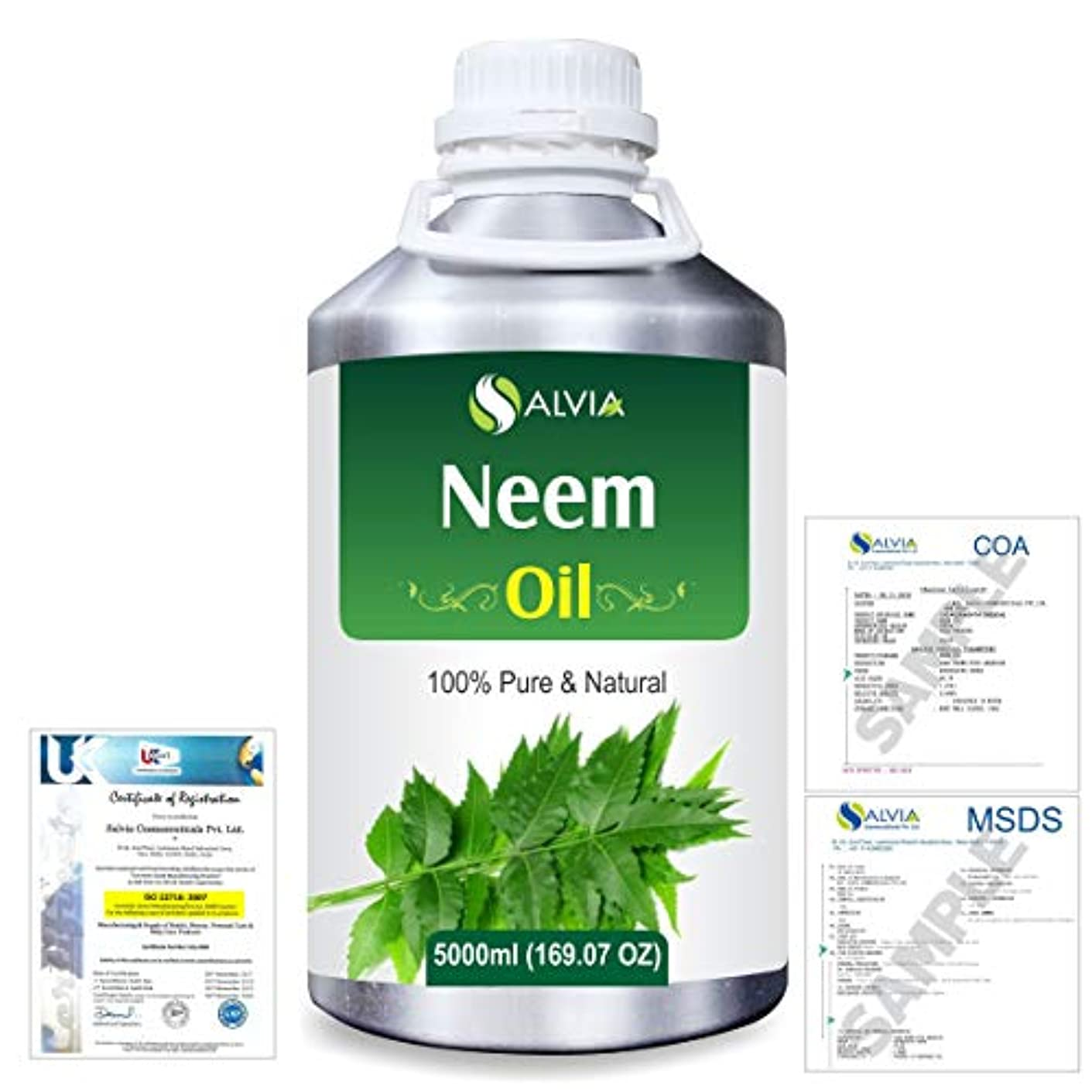 驚くばかりロッド一月Neem (Azadirachta indica) 100% Natural Pure Essential Oil 5000ml/169fl.oz.