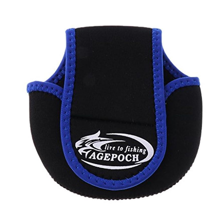 ベテラン好奇心主要なDYNWAVE スピニングリールバッグ リールポーチ 保護カバー 左右手兼用 軽量