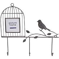 SimpleLife 鳥の金属吊り壁のフォトフレームウェディング子供の画像フレームホームインテリア