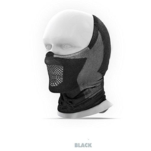 NAROO MASK(ナルーマスク) X5h ハーフバラクラバ 目出し帽 フェイスマスク (ブラック)