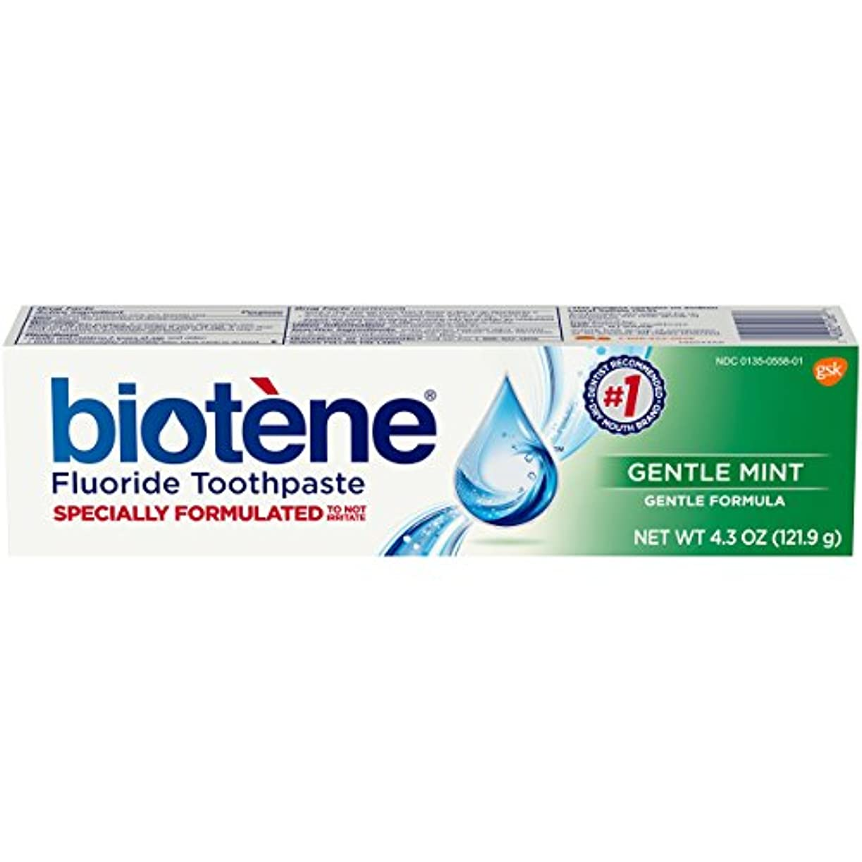 同僚鋭く検証Biotene Toothpaste Gentle Mint Fluoride 4.3 Oz, by Biotene