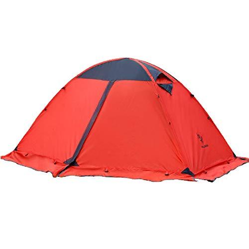 TRIWONDER テント 2人用 軽量 防水 山岳テント キャンプ ツーリング アウトドア 登山用 4シーズンに適用 ソロテント (レッド)