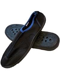ビーチソックスメンズブラック&ブルーAquaソックスビーチ&水靴