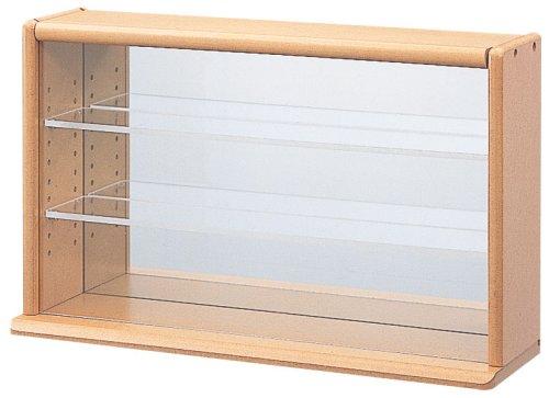 RoomClip商品情報 - ナカバヤシ コレクションケース ミニ ワイド 透明アクリル棚板タイプ ライトブラウン W420xD120xH255mm CCM-002-LS ディスプレイケース