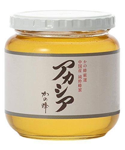 はちみつ 専門店【かの蜂】 厳選 中国産 アカシア 蜂蜜 600g 純粋 蜂蜜 (瓶容器)