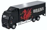 OXFORD DIECAST SP113 Volvo FH Curtainside Lorry Brains