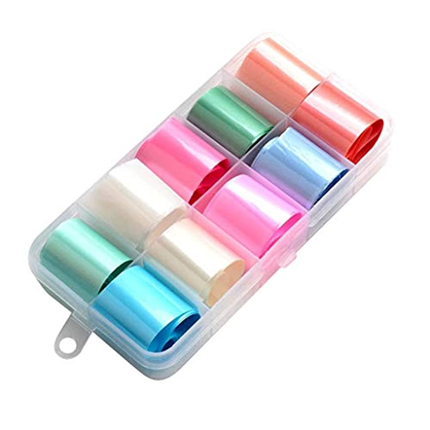 主人見捨てられたピンクDYNWAVE ネイルデザイン 虹色シール ステッカー ボックス付き ネイルアートデコレーション 全15色 - ミックススタイル01