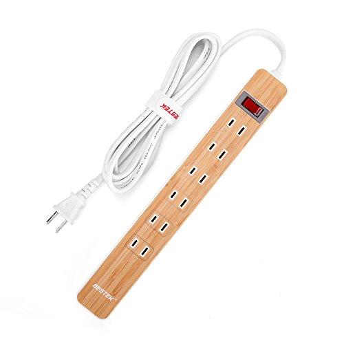 BESTEK 電源タップ USB コンセント AC 6個口 U...