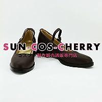 【サイズ選択可】コスプレ靴 ブーツ K-1001 ファイナルファンタジーFF零式Type-0 レム・トキミヤ Rem 女性23.5CM