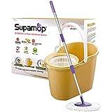 [Sweet Home] Taiwan No.1 Supamop Sh-350 Yellow Manual Press Dehydrate System Cleaning MopSpin Mop