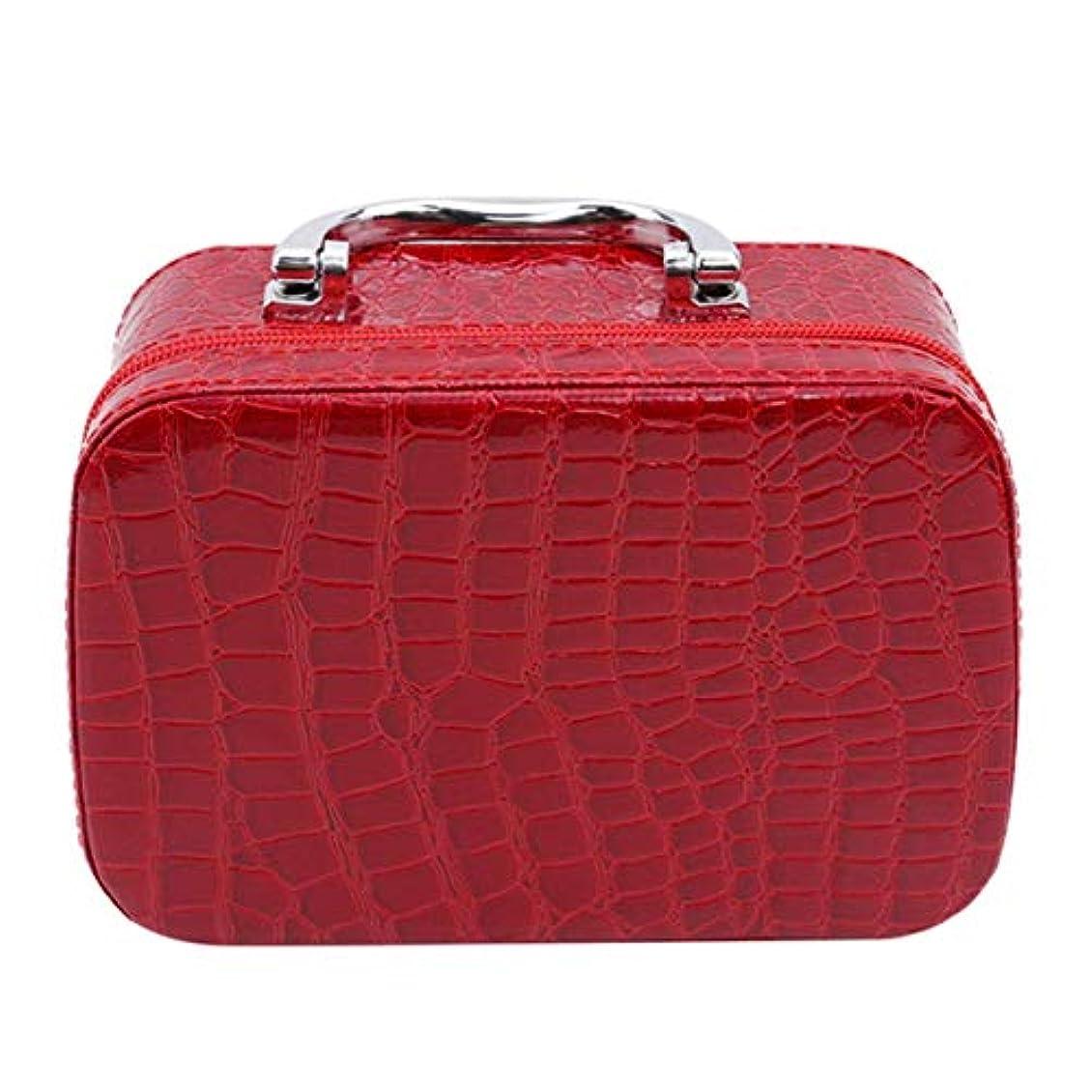 致命的放棄されたダイエット1st market ミラーが付いている優れた旅行携帯用化粧品袋のオルガナイザーの女性の化粧品の箱