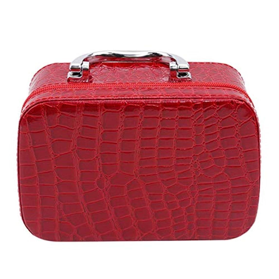 ブランデー一時的官僚1st market ミラーが付いている優れた旅行携帯用化粧品袋のオルガナイザーの女性の化粧品の箱