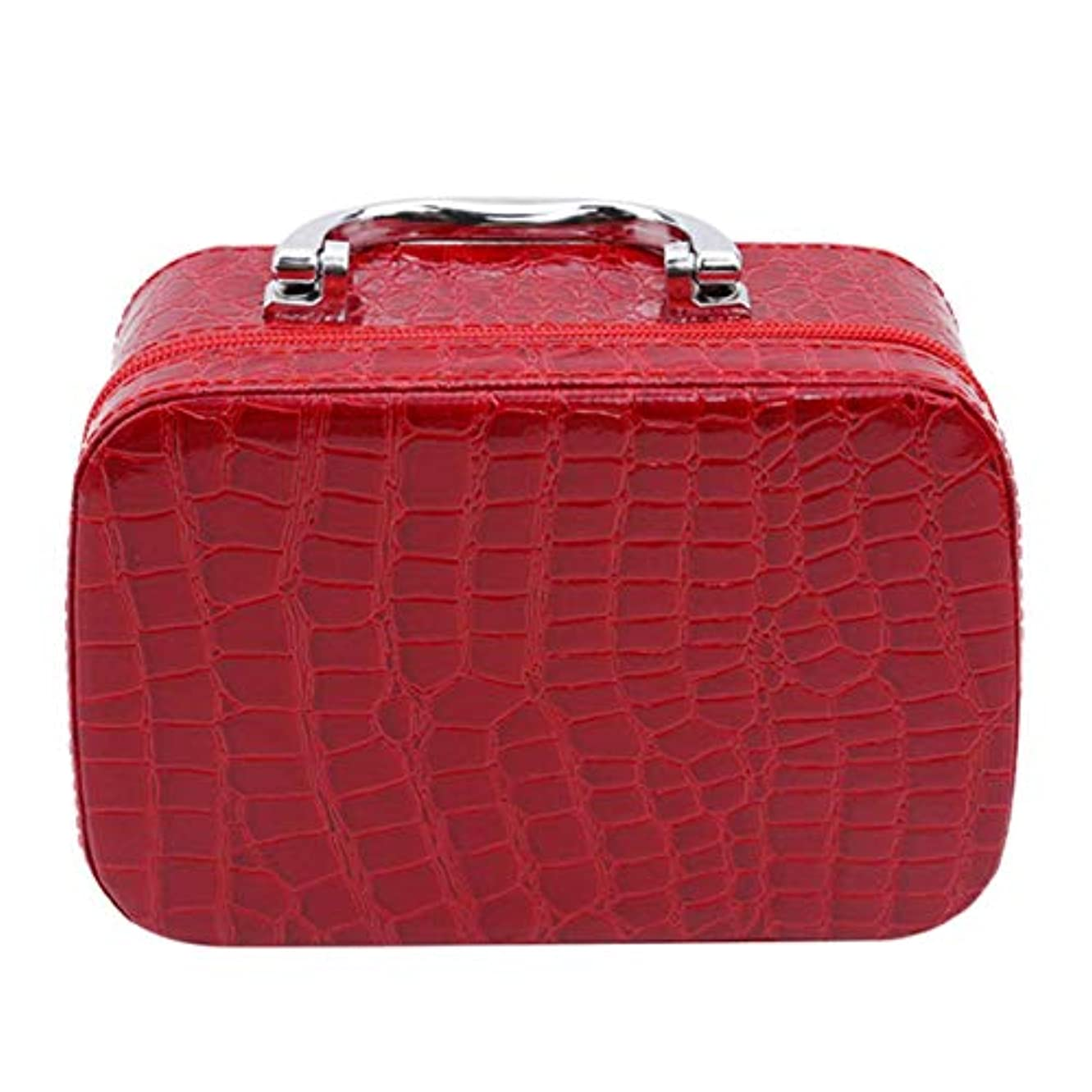 教えて授業料ペック1st market ミラーが付いている優れた旅行携帯用化粧品袋のオルガナイザーの女性の化粧品の箱