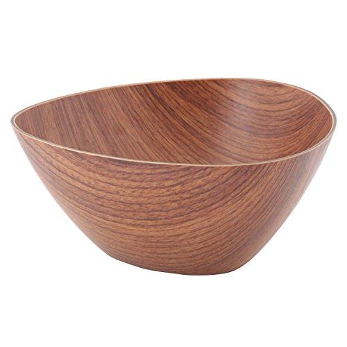 洋食器 木目調 ボール ラウンド ポリスチレン ブラウン 19.5*19.5*H10cm