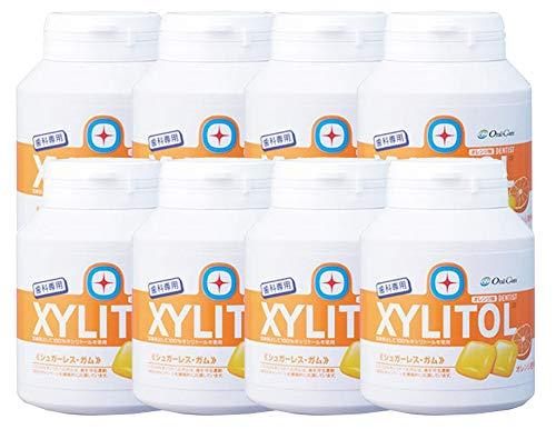 歯科専用 キシリトールガム ボトルタイプ オレンジ (約90粒) 8個セット