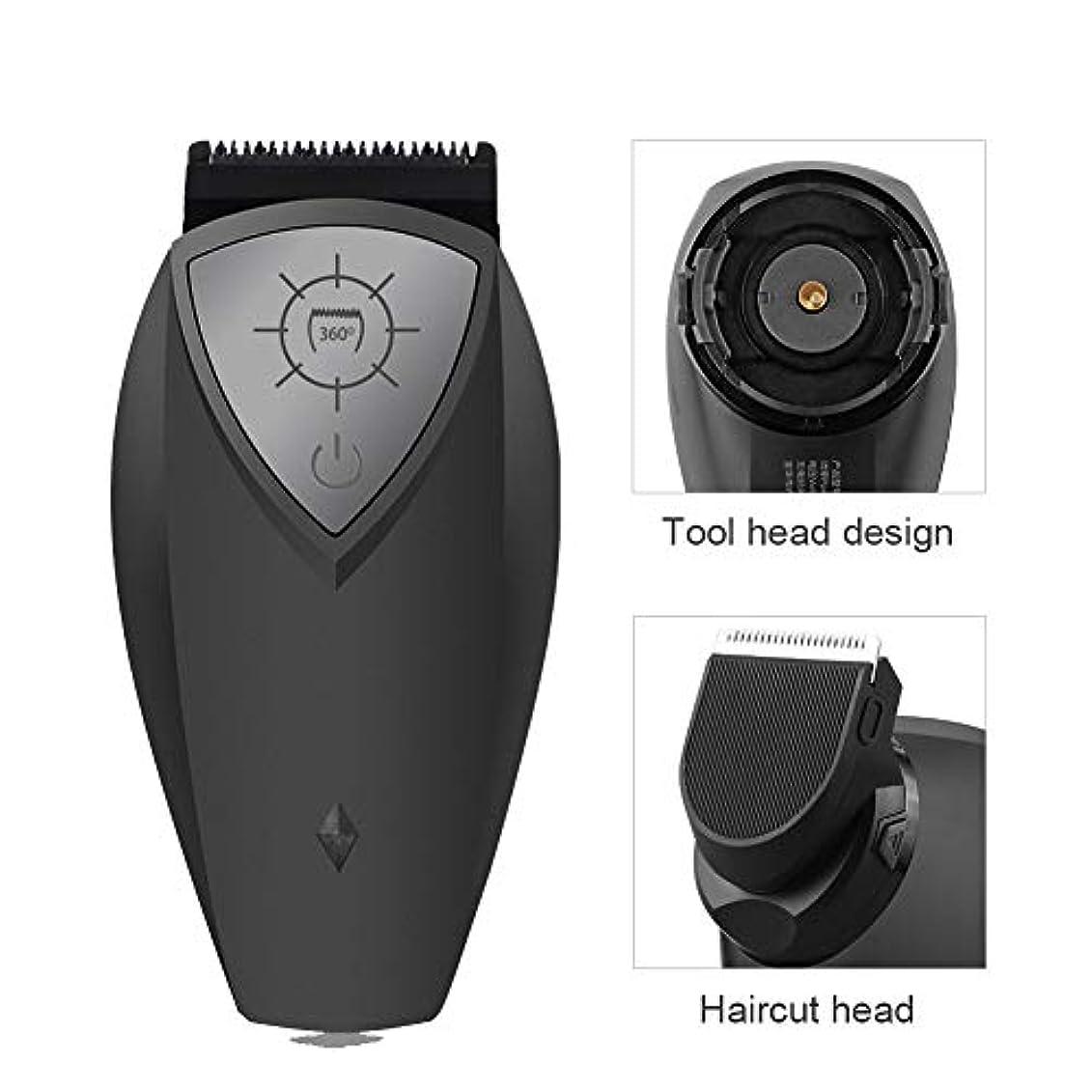 脈拍地下振り向く男性用USB充電式シェーバーカミソリ、360度ロータリー充電式男性電気シェーバー本体ひげ毛トリマーカミソリ