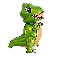キャラクター風船 エアウォーカー ホイル風船 恐竜 飾りつけ お誕生日ティラノサウルスレックス - 緑