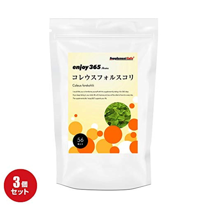 数値典型的な養うenjoy365 フォルスコリ 約30日分な【3個セット】 フォースコリー サプリメント