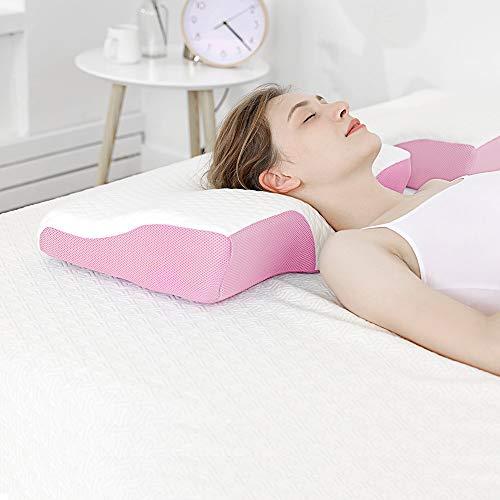 枕 安眠 肩こり対策 いびき防止 理学療法スティック 首・頭・肩をやさしく支える 熟睡 快眠枕 桜色