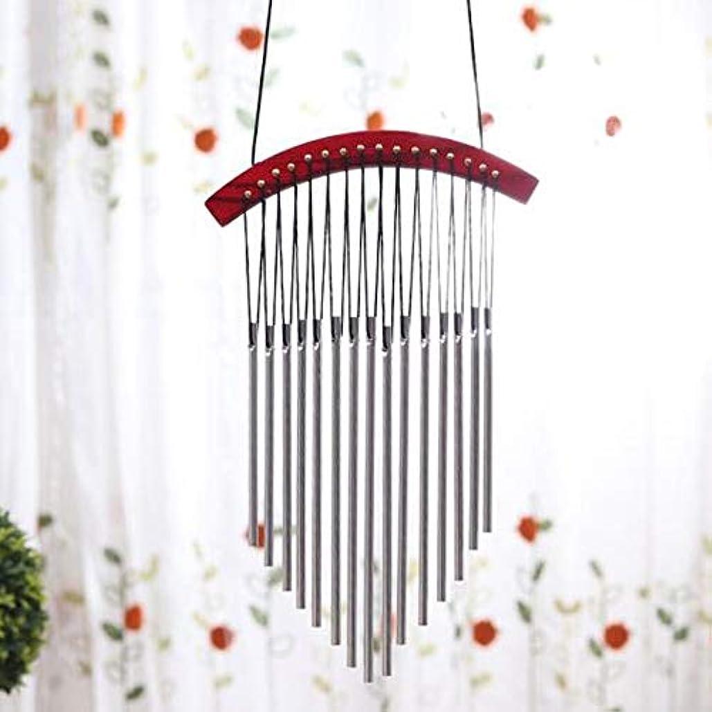 アーク粘土アレキサンダーグラハムベルKaiyitong01 風チャイム、木製メタルクリエイティブ風の鐘、赤、全身について45CM,絶妙なファッション (Color : B)