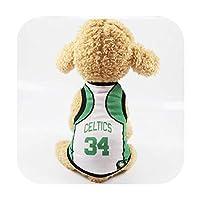 スポーツ犬服メッシュ布ペットベストコート猫小中大犬 快適な服,Celtics,6XL
