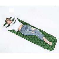 屋外ポータブルインフレータブルマットキャンプピクニックビーチマットテント睡眠パッド、エアーポンプではない (Color : Green)
