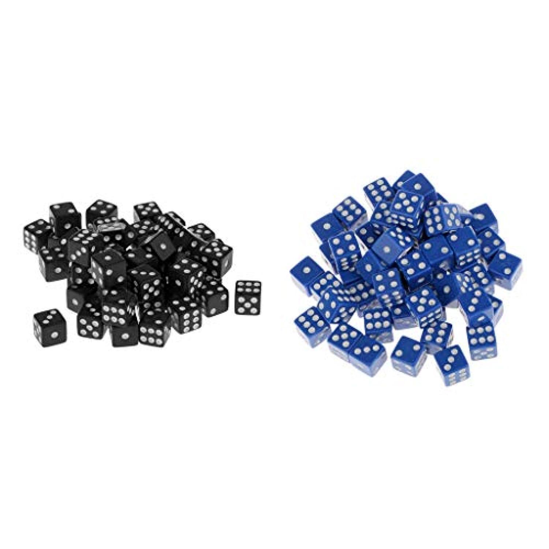 B Blesiya 約100個 アクリル 6面 ダイス サイコロ 骰子 テーブルゲーム用