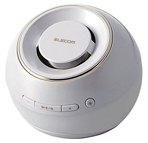エレコム ワイヤレススピーカー Bluetooth/IPX7防水対応/光る3色LED ホワイト LBT-SPWP200WH