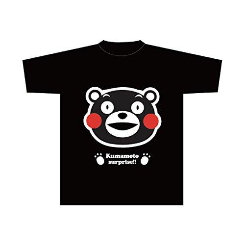 くまモンのTシャツ(黒・笑顔)100cm
