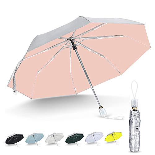 LOTOBA  日傘 uvカット 100 遮光 折りたたみ ワンタッチ 自動開閉 8本骨  シルバーコーティング ひんやり傘