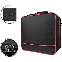 Scorel PlayStation4 / PlayStation Slim 用 肩掛け 大容量 防水設計 収納バッグ(ブラック)