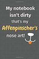 My notebook isn't dirty that's my Affenpinscher's nose art: For Affenpinscher Dog Fans