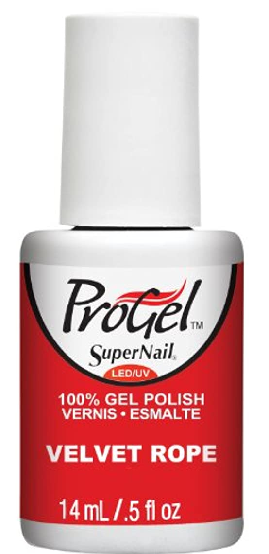 進化する支配的写真を撮るSuperNail ProGel Gel Polish - Velvet Rope - 0.5oz / 14ml