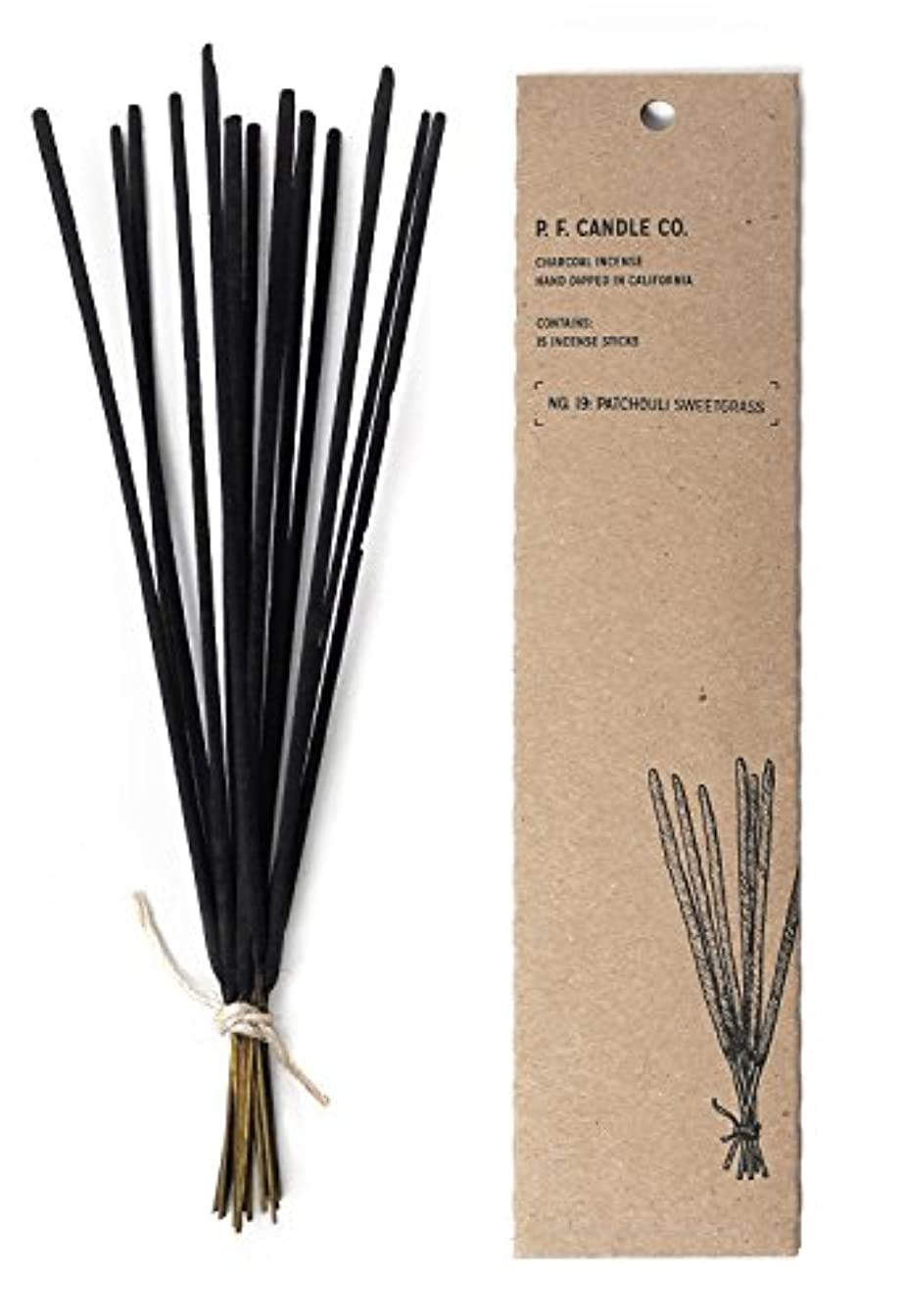 回復塗抹返済p.f. Candle Co。 – No。19 : Patchouli Sweetgrass Incense 2-Pack