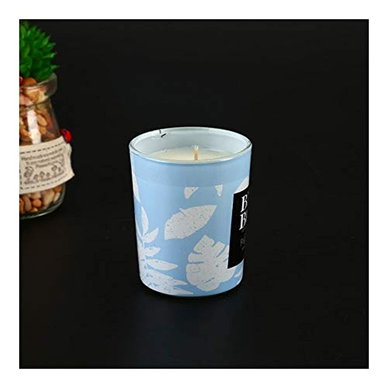 不可能なとは異なりフレアGuomao アロマセラピーキャンドルカップ告白アーティファクトキャンドル手で環境に優しい無煙大豆ワックス (色 : Blue wind chime)